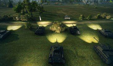 Мод - Включить фары в World of Tanks 1.6.1.1