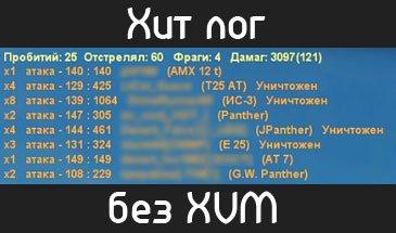 Простой счетчик нанесенного урона работающий без XVM для 1.7.1.2