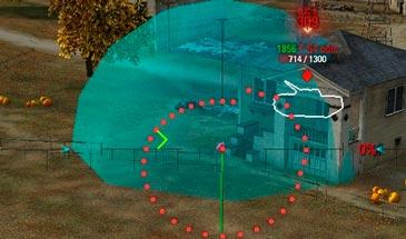 Мод Фугасный Сплеш - отображения сферы разлёта осколков и отображение радиуса стана  для WOT 1.5.1.1