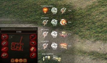 Информер умений и навыков (перков) экипажа в бою для World of Tanks 1.6.1.4