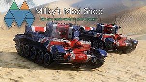 Сборка моделей и шкурок Milky's Mod Shop для World of tanks 1.5.1.2 WOT