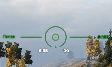 Зеленый прицел Strike для World of Tanks 1.7.0.2