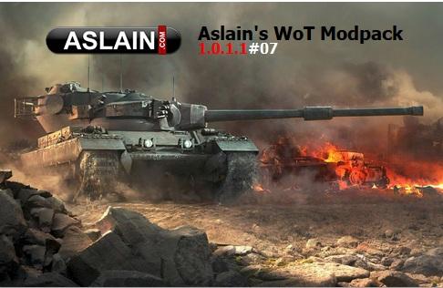 Aslain's modpack - сборка модов на английском языке для World of tanks 1.6.1.4