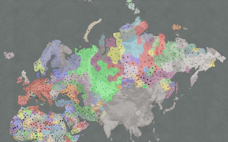 Внешний вид глобальной карты