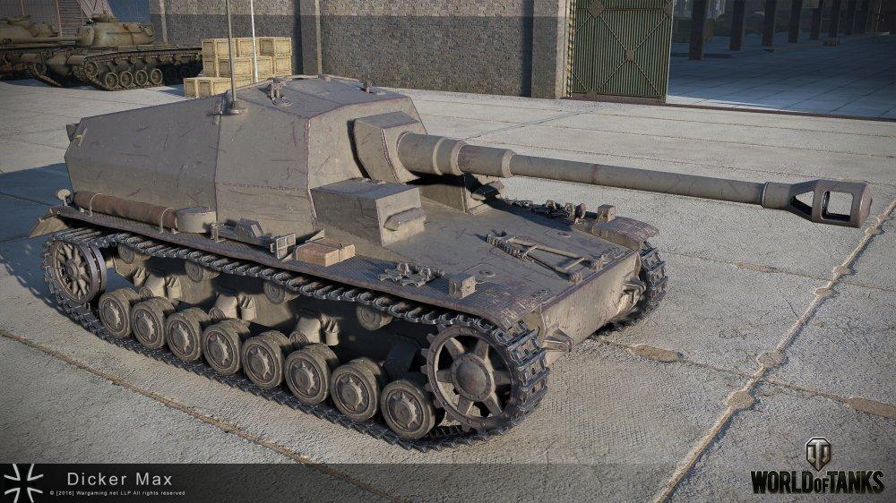 Dicker Max - премиумная немецкая ПТ-САУ 6 уровня WOT