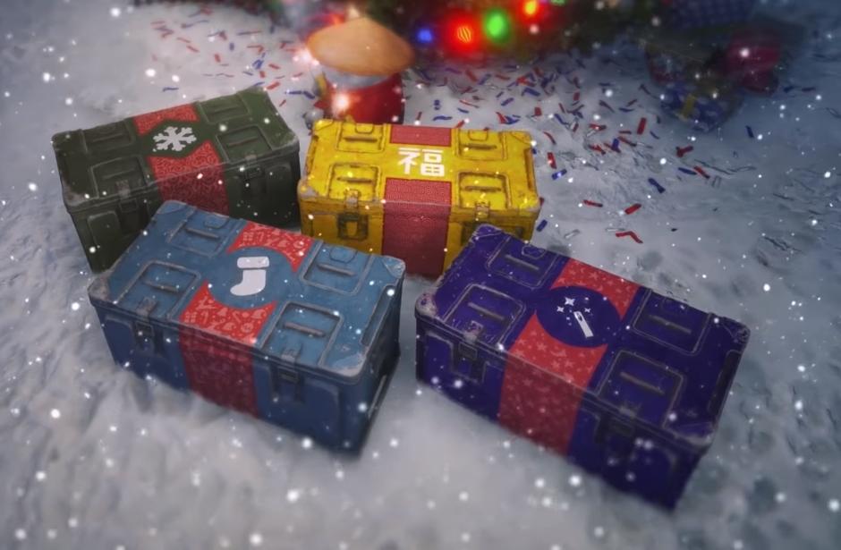 Новогодние большие коробки в WOT