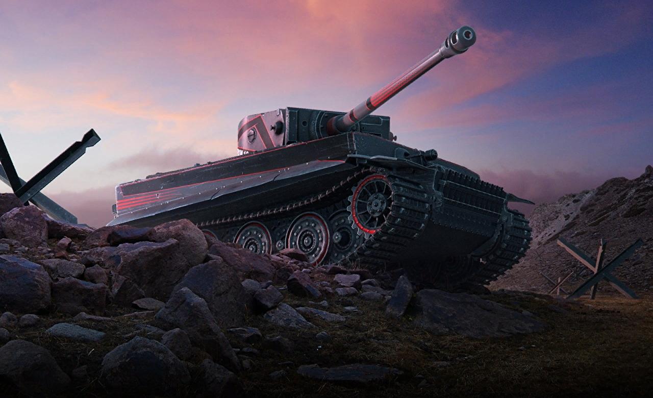 Tiger 1 - тяжелый танк 7 уровня Германии WOT