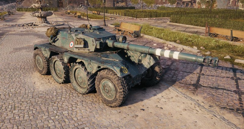 Panhard EBR 105 — французский легкий танк 10 уровня в World of Tanks