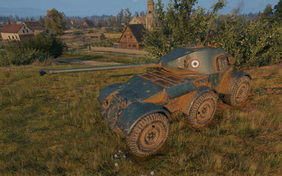 Hotchkiss EBR — французский легкий танк 7 уровня в World of Tanks
