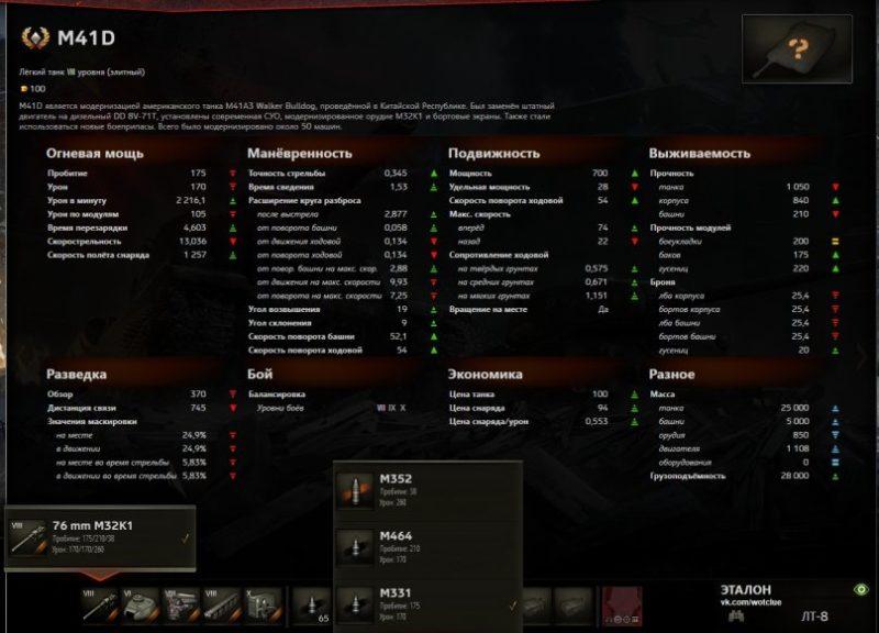 M41D подробные ttx