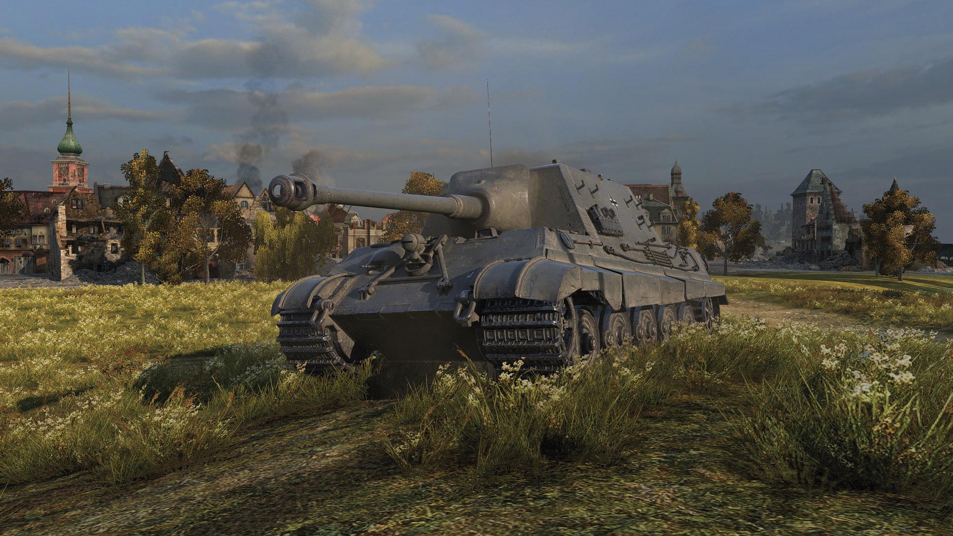 Немецкая ПТ-САУ 8 уровня 8,8 cm Pak 43 Jagdtiger WOT