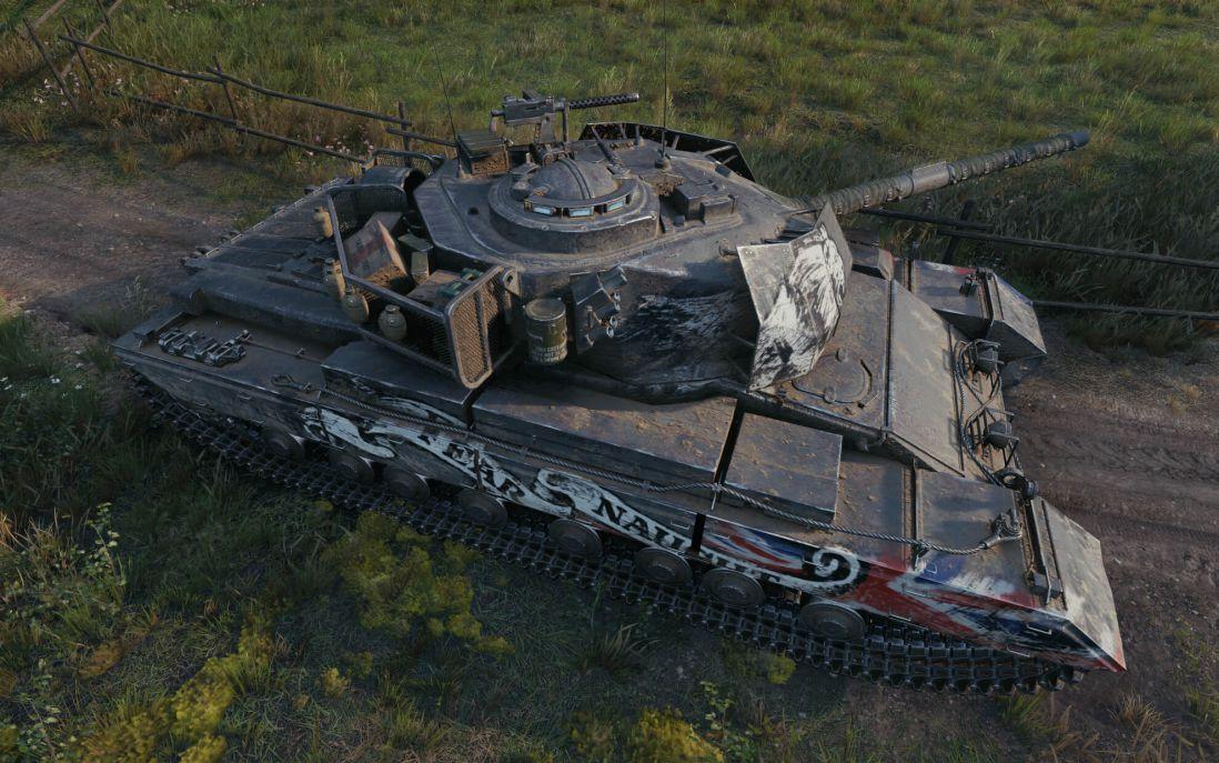 Caernarvon Action X - британский премиум танк 8 уровня в World of Tanks