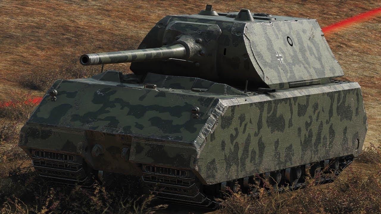 Maus - тяжелый танк 10 уровня в World of Tanks