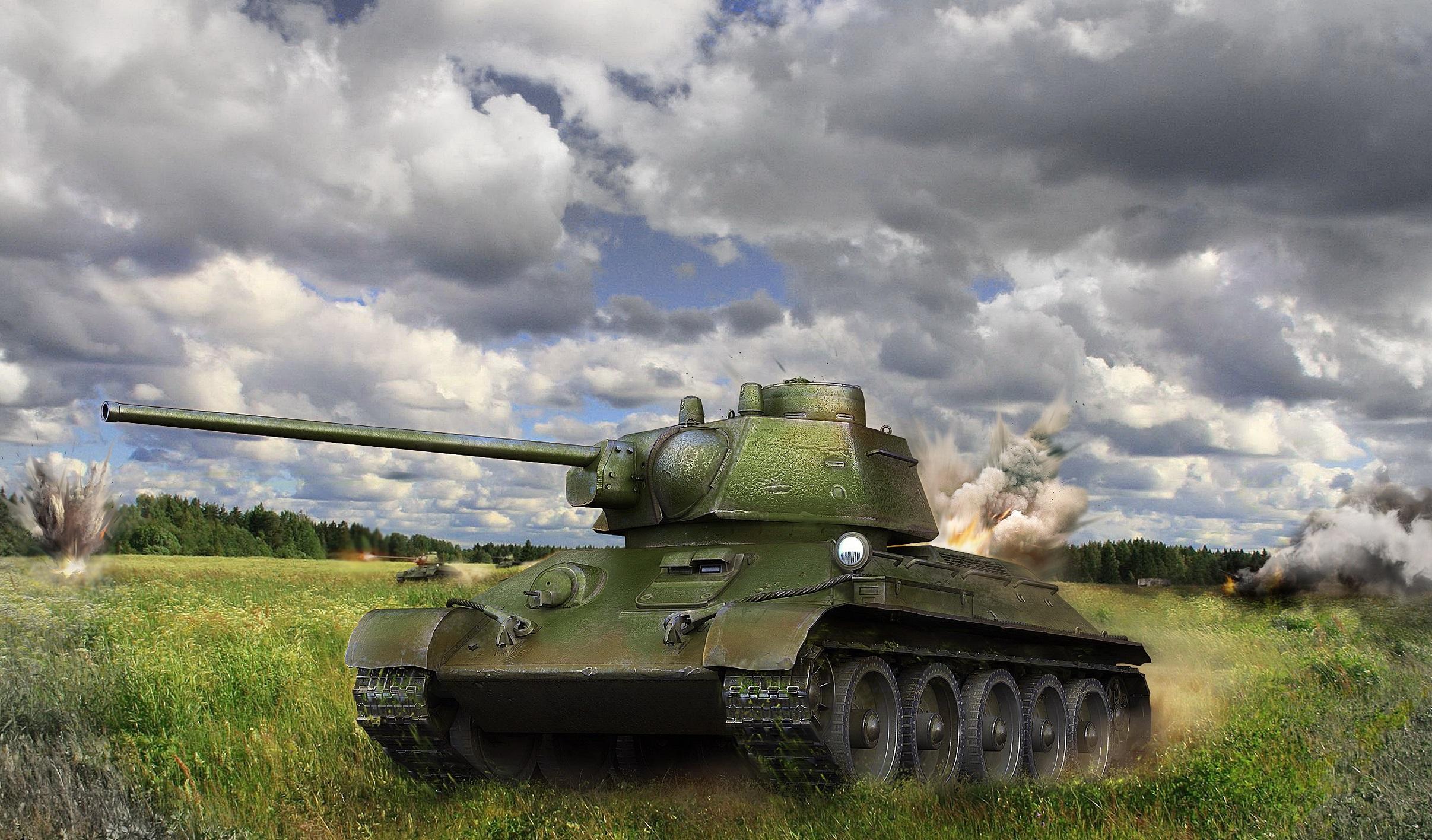 Т-34 — советский средний танк 5 уровня в World of Tanks