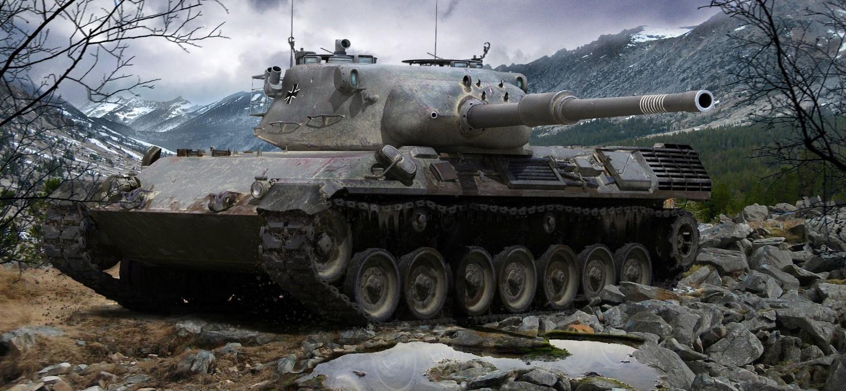Leopard 1 — немецкий средний танк 10 уровня в World of Tanks