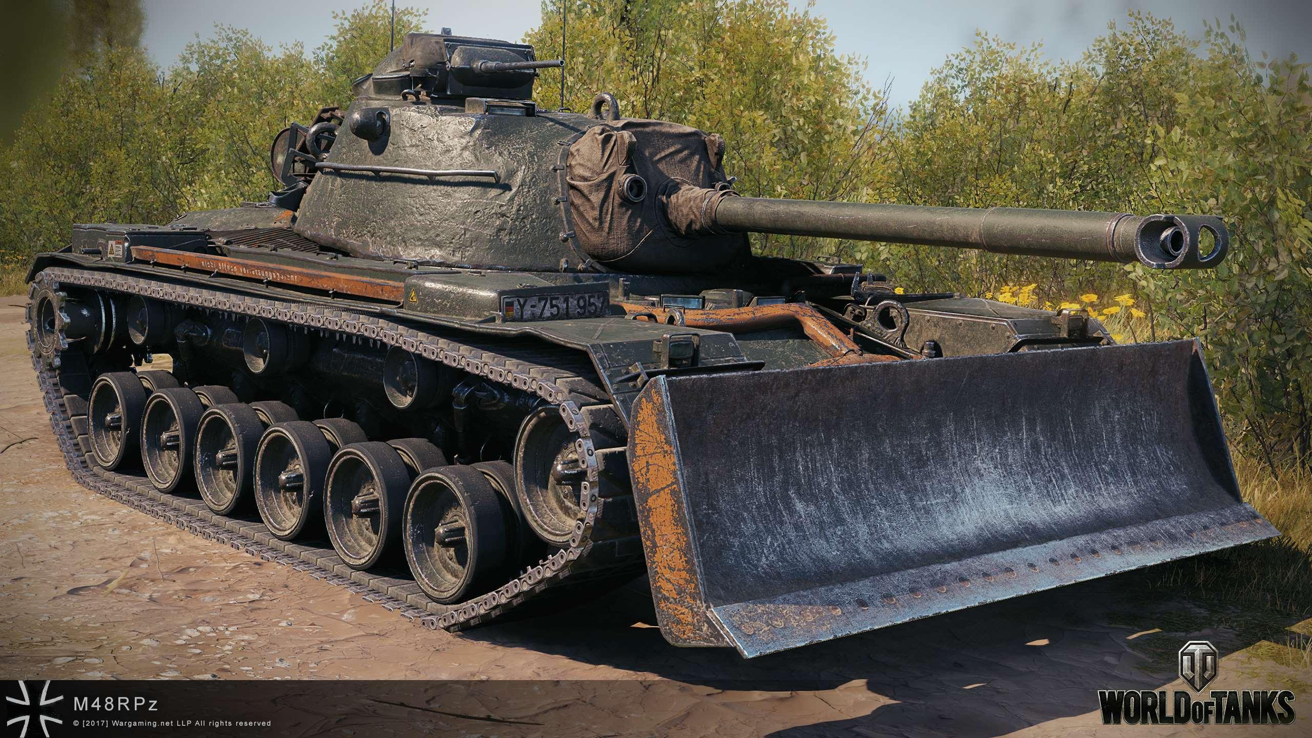 M48A2 Räumpanzer — немецкий средний прем танк 8 уровня в World of Tanks
