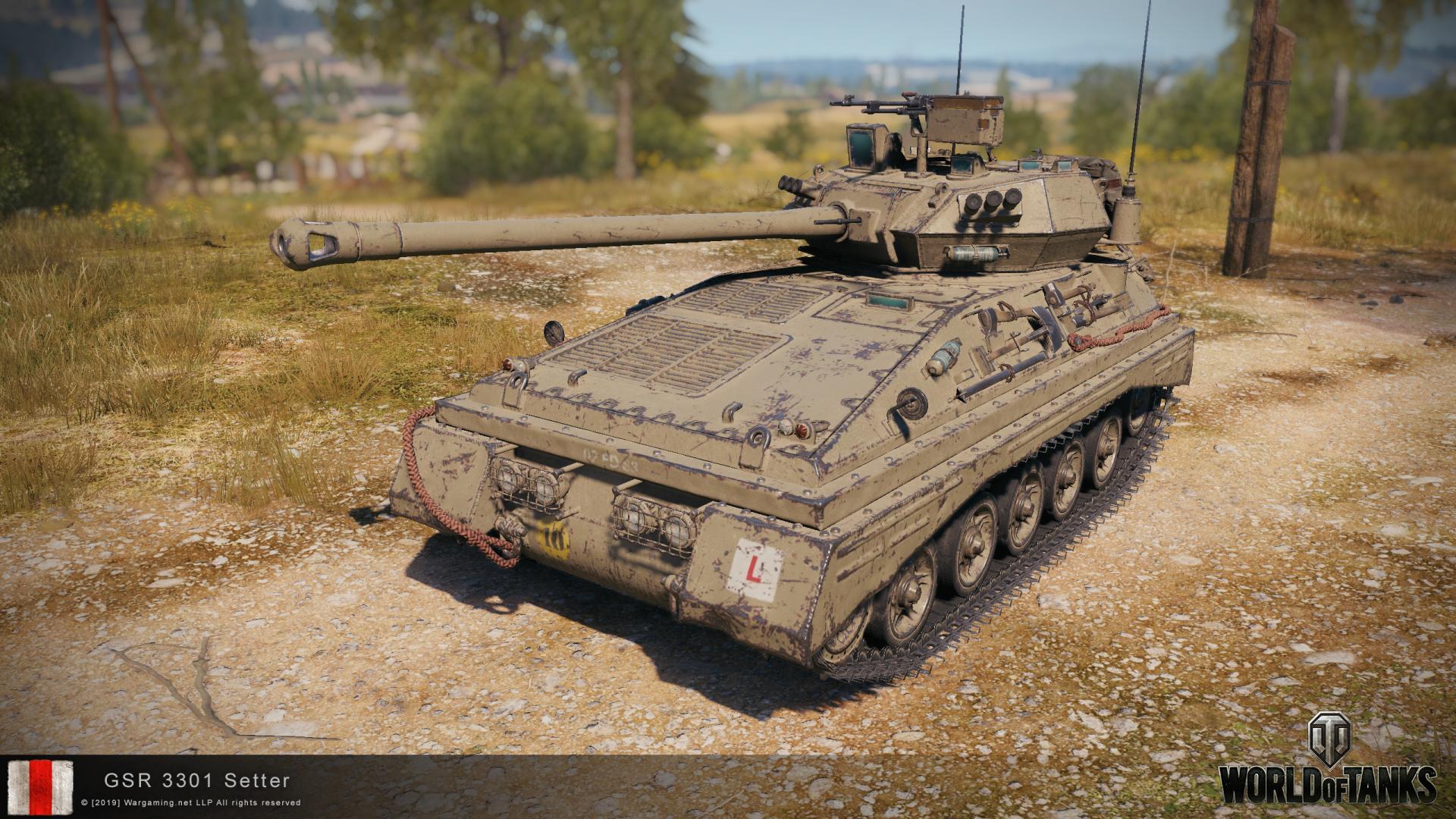 GSR 3301 Setter — британский легкий танк 7 уровня в World of Tanks