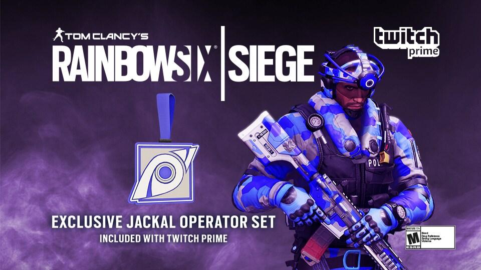 Twitch Prime для Rainbow Six Siege: Exclusive Jackal Operator Set