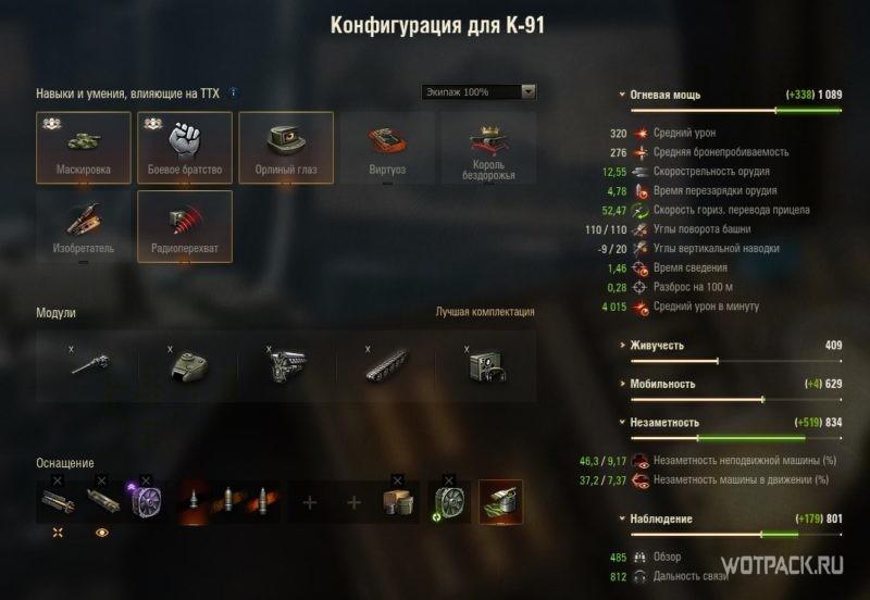 Конфигурация К-91