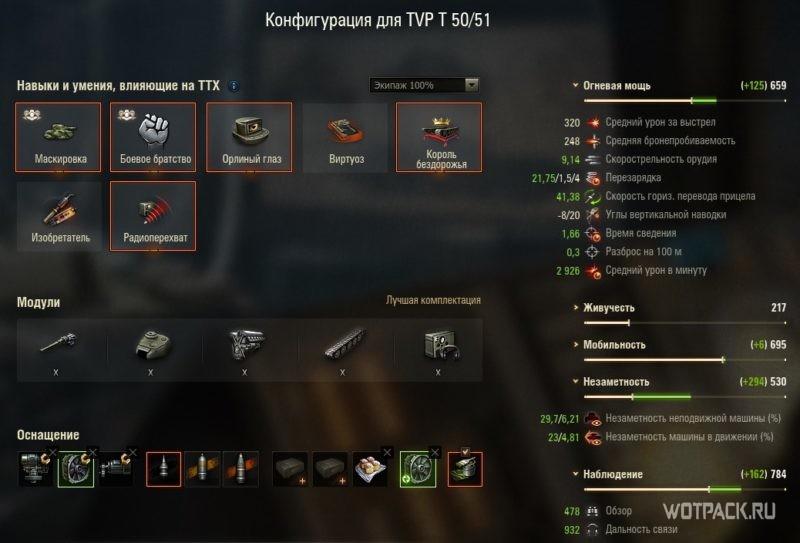 конфигурация TVP T 50/51