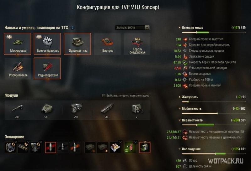 Конфигурация TVP VTU Koncept