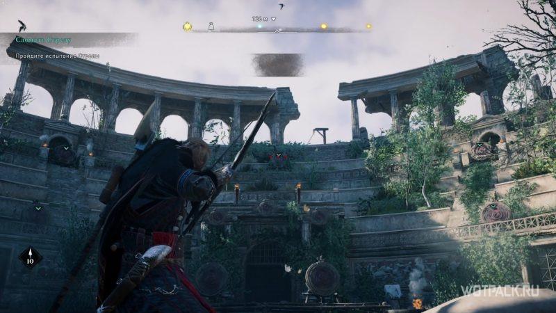 Assassin's Creed: Valhalla – Эйвор стреляет из лука по мишеням