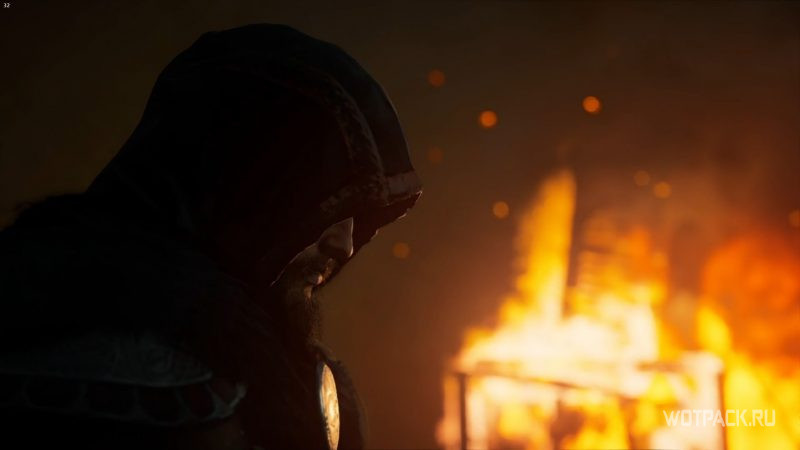 Assassin's Creed: Valhalla – Эйвор на фоне пожара