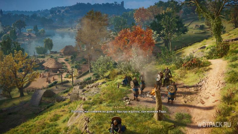 Assassin's Creed: Valhalla – Обсуждение плана у костра