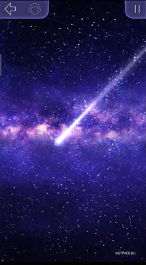 Падающая комета в игре Клуб Романтики