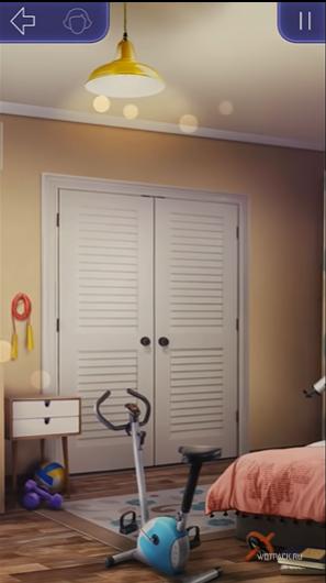 Оформление комнаты со спортинвентарем